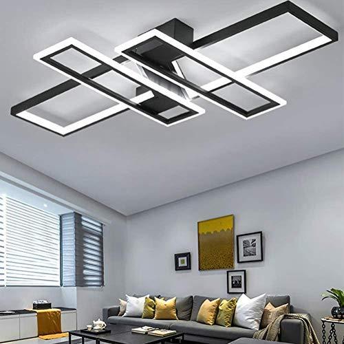 LED Deckenleuchte Modern Wohnzimmer Licht Pendelleuchte Dimmbar 94W Creative Aluminium Acryl Design Lampe Decke Fixture Beleuchtung Wohnzimmerlampe Schlafzimmer Licht Büro Deckenlampe lampen
