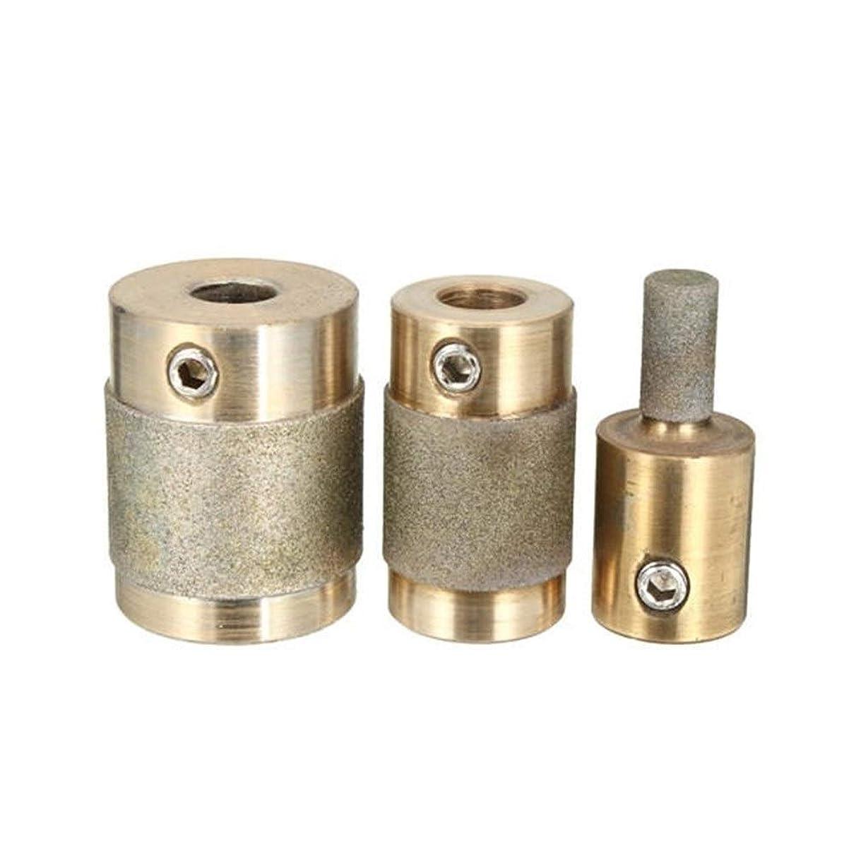 貫通トレーダー検出CHENBIN-BB 研磨剤は、3枚のビットセットの研削盤ステンドグラスグラインダー用1/4 3/4 1インチヘッドを研削