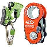 Climbing Technology Alpine-up mosquetón assicuratore discensore multifunción, Verde + Polea de Escalada