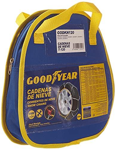 Goodyear GODKN120 Cadenas Nieve Metálicas, Talla 120, Set de 2