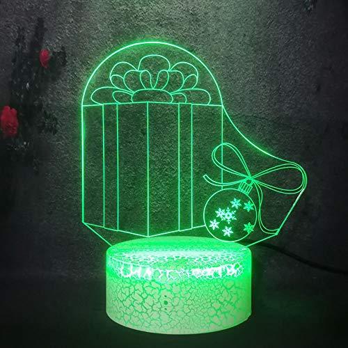 YHZSML Weihnachtsgeschenkpaket Boxen Kind Liebe Spielzeug Cartoon Lampe Baby Schlafen 3D LED USB Nachtlicht RGB Lava Lampe Schlafzimmer Dekor Glanz DIY