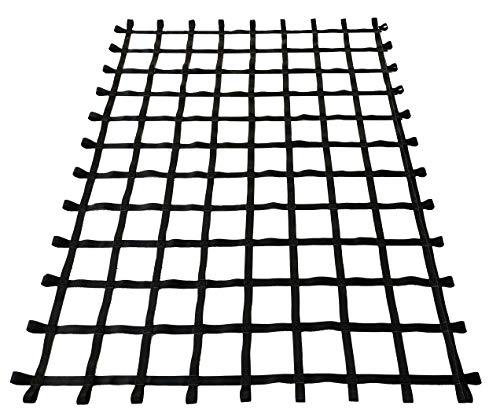 Fong 10 ft X 8 ft Climbing Cargo Net Black - Indoor Climbing net - Outdoor Playground Swing, Belt Swing, Cargo Net Playground (10ft X 8ft)