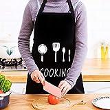 trounistro 2 Pack Schürze, Kochschürze Küchenschürze Grillschürze Wasserdicht Latzschürze Damen Küchenschürze mit Tasche für Damen Koch, Cupcake, Cafe (75 * 68CM) - 7
