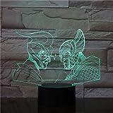 Antike griechische römische Krieger Nachtlichter Tischlampe Multicolor Beleuchtung visuelle Touch Cool Abbildung Kinderspielzeug