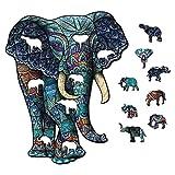 Piezas de puzzle de forma única, rompecabezas de madera con animales Misteriosos, rompecabezas con animales de madera de colores animales en 3D, ideal para juegos para familias.