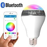 LED Smart Light Bulb with Bluetooth Speaker and APP Control RGB Multi Color...