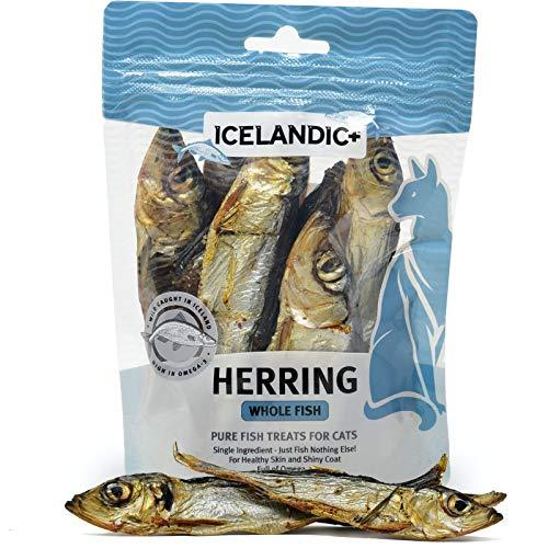 Icelandic+  All-Natural Cat Treats  Whole Fish Herring, 1.5 oz.