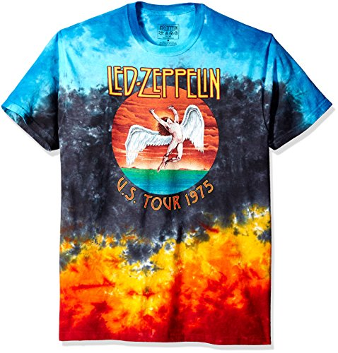 Liquid Blue Men's Led Zeppelin Icarus 1975 T-Shirt, Multi, X-Large