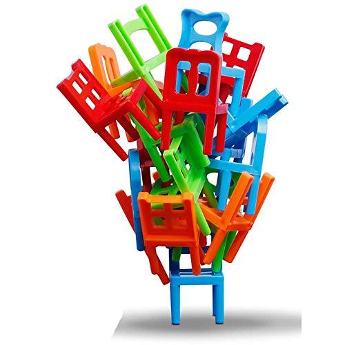 Carry stone Premium Qualität 1 SetPlastic Stühle Stapeln Balancing Spielzeug Intelligenz Multiplayer Balance Spiel Kinder Schreibtisch Spielen Spiel Spielzeug Für Kinder Kinder Jungen Zufällige Farbe