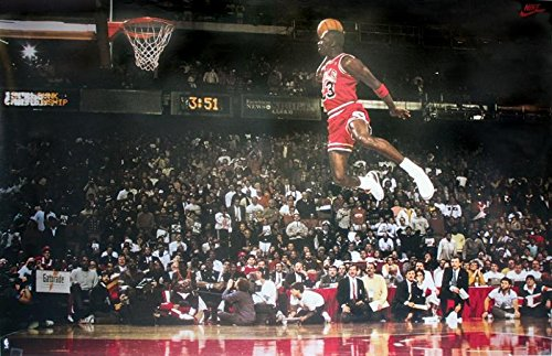 Póster Michael Jordan Slam Dunk Contest (Mate) (89,6cm x 59,5cm)