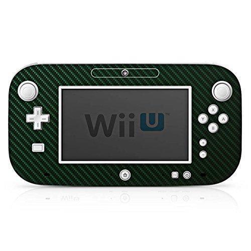 DeinDesign Skin kompatibel mit Nintendo Wii U Gamepad Folie Sticker Carbon Metallic Look grün
