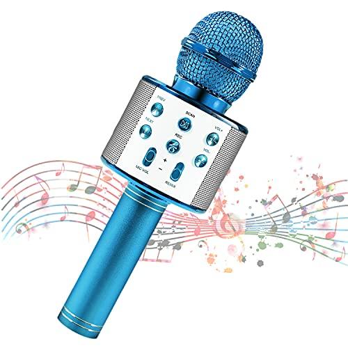 Mikrofon für Kinder, Kindermikrofon zum Singen, Bluetooth-Mikrofon kabellos mit Lautsprecher, Kinder-Karaoke-Maschine mit tragbarem Mikrofon