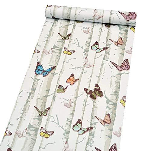 Vinilo autoadhesivo decorativo mariposa papel muebles etiqueta de la pared para gabinetes estantes armario tocador cajón pared calcomanía 45 cm x 200 cm