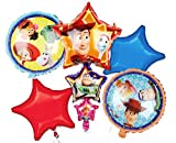 Toy Story 4 Birthday Party Balloons - 6 Piece Kids Balloon Decorations - Buzz Lightyear Woody Forky Buttercup - Bo Peep Rex Jessie Bundle by Jolly Jon ®