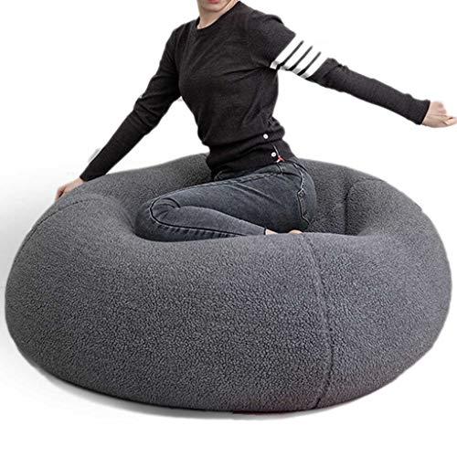 Diaod New Big Cashmere Bean Bag Funda de Asiento de Cama Sin Relleno Giant Beanbag Futon Recliner Pouf Silla Muebles de salón (sin Relleno, sin Forro) (Color : White)
