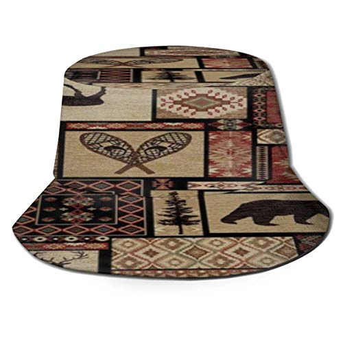 Beyond Loser Bucket Hat,Fishing Hat American Wild Lodge Soft Cotton & Polyester Fabric Unisex Wide Sun Cap Windproof for Hiking Camping Traveling Fishing