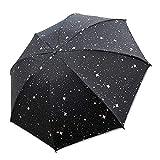 Parapluie inversé Automatique Compact imperméable avec Bande réfléchissante Noir...
