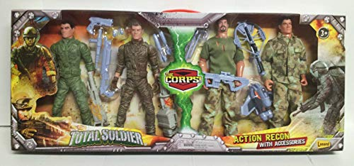 The Corps! Total Soldier Action Recon With Accessories High Figurine Set