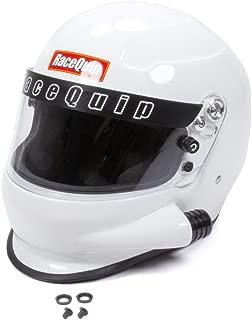 RaceQuip 293113 Gloss White Medium PRO15 Side Air Model Full Face Helmet (Snell SA-2015 Rated)