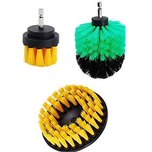 OxoxO Drill Brush Attachment Set - 2'3' 5inch Drill Brush Radiator Cleaner Brush for Car, Bathroom Surfaces, Wooden Floor, Tile, Grout, Kitchen