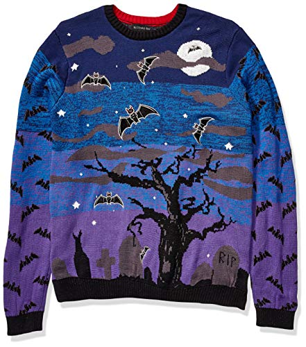 Blizzard Bay Men's Halloween Sweaters, Purple Combo, Large