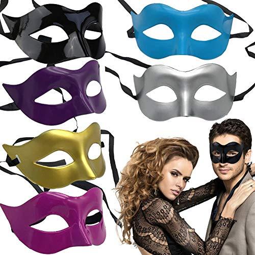 BESTZY 6PCS Disfraz Mascarada Máscara Veneciana Fiesta Máscara Halloween Máscara para...