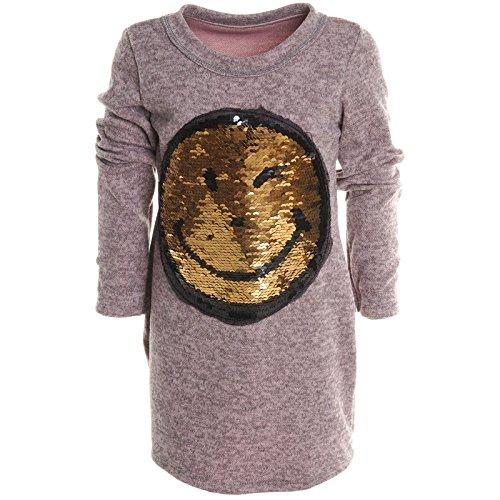 BEZLIT Mädchen Longshirt Bluse Shirt Pullover Langarmshirt Strickkleid Sweatshirt 20676 Rosa Größe 164