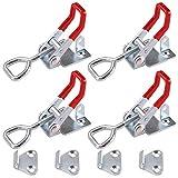 Rantecks Abrazadera de palanca de 4 piezas Abrazadera de palanca ajustable con ojo de cerradura Capacidad de retención de 180 kg / 396 lb para cajas de gabinetes Puerta de maletero y armario
