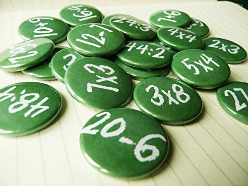 Mathe Adventskalender Buttons