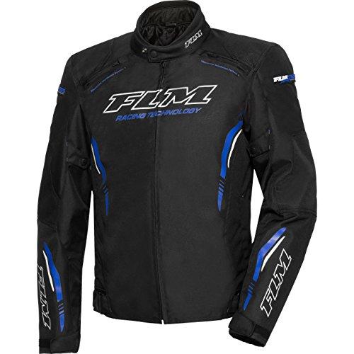 FLM Motorradjacke mit Protektoren Motorrad Jacke Sports Textiljacke 6.0 blau M, Herren, Sportler, Sommer