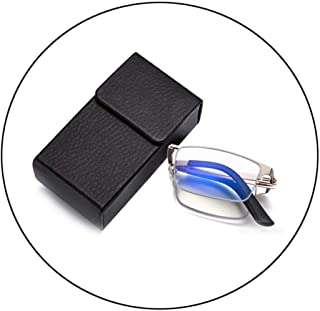 Comfortable Folding Far and Near Dual-use Reading Glasses Male Anti-Blue Light Intelligent Zoom to See Near and Far Glasses Beautiful (Color : Golden, Size : +2.0)