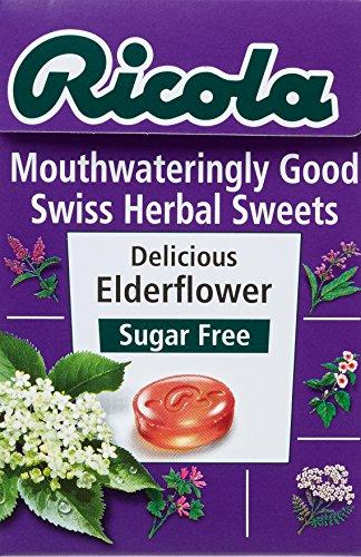 Ricola Elderflower Sugar Free Swiss Herb Drops 45 g (Pack of 10)