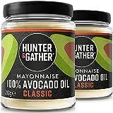 Hunter & Gather 2 X 250g (Pack Doble) Mayonesa De Aguacate | Hecha Con Aceite De Aguacate Puro Y Yema De Huevos De Pollos De Granja Británicos, Sin Azúcar Y Gluten | Paleo, Cetogénica