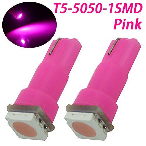 TABEN Lot de 2 ampoules LED T5 37 73 74 79 17 57 1-5050-SMD pour tableau de bord - Rose