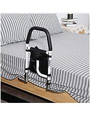 ZTHHS Apoyabrazos de Seguridad en el Dormitorio, mesita de Noche Extensible, barandilla de Seguridad Plegable, Barra de Apoyo para Cama con Bolsa organizadora, para Ancianos y discapacitados