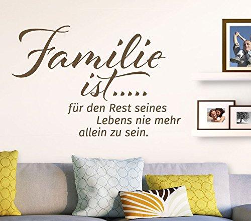 Wandtatoo-Günstig G071 Spruch Familie ist. Wandaufkleber Wandsticker Flur Wohnzimmer schwarz (BxH) 89 x 58 cm