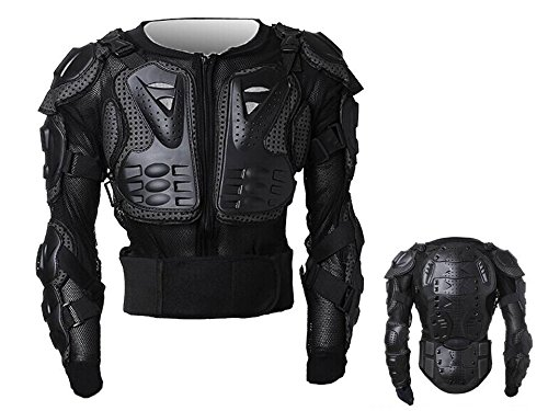 MONTALIN Peto Integral Moto, Motocross, Enduro, chaqueta Proteccion NEGRO M L XL XXL XXXL (L)
