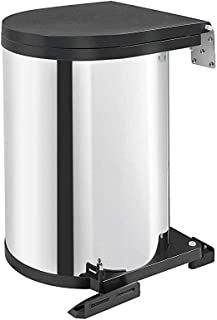 Rev-A-Shelf 8-010314-15 13 Liter Stainless Steel Under Sink Waste Container