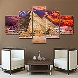 PEJHQY Laeacco Canvas Painting Caligrafía Lugares de interés Paisaje Poster e impresión Desert Wall Art Picture Living Room Home Decor,Cuadros en Lienzo