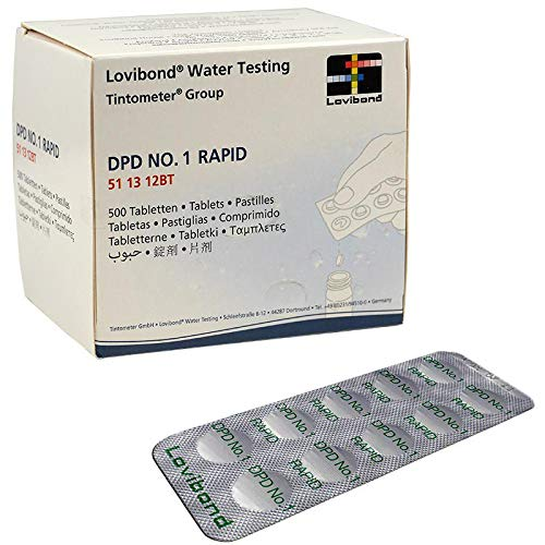 Aquapool 250 pastillas DPD 1 rapid (pooltester) para piscinas