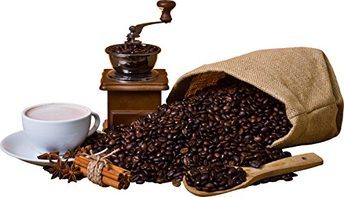 wandmotiv24 Wandsticker Kaffeebohnen und Kaffeemühle S - klein 30x52cm Wand-Aufkleber, Sticker, Schrank-Bild, Wandbild WS00000203