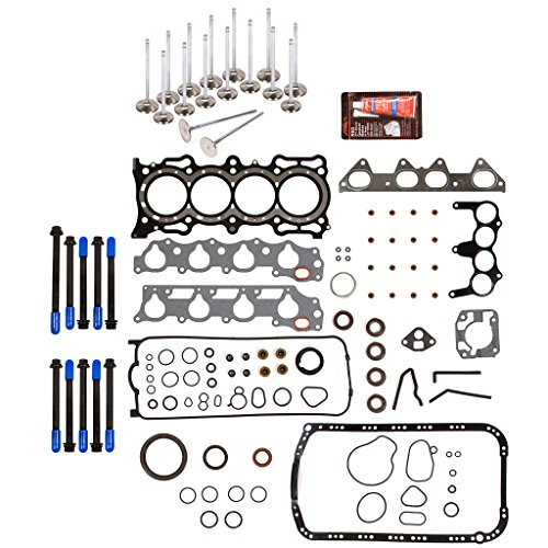 Evergreen FSHBIEV4013CHP Full Gasket Set Head Bolts High Performance Intake Exhaust Valves Compatible With 94-97 2.2L Acura CL Honda Accord EX Vtec SOHC F22B1