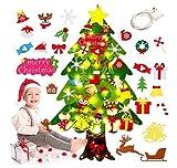 Árbol de Navidad de FieltroArbol,Navidad FieltroArbol de NavidadFieltro ,DecoraciónDIY ,Arbol de Navidad,Decoración de Navidad para Paredes y Puertas del hogarArbol Navidad Fieltro DIY (D)
