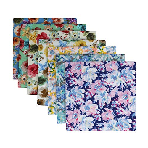jieGorge 7PCS Cotton Craft Fabric Bundle Patchwork Squares Quilting Sewing Patchwork DIY, Home DIY for Easter Day (B)