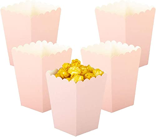 YESON Pink Popcorn Boxes Mini Paper Popcorn Box for Party,Pack of 36