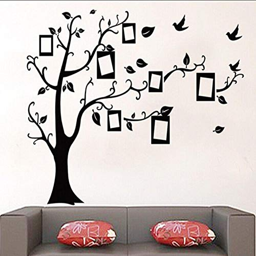 70X120cm Black 3D DIY Photo Tree PVC Wall Decals/Adhesive Family Wall Stickers Background decoration Mural Art Home Decor