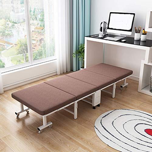 Tumbona reclinable, Cama de esponja plegable de cuatro pliegues,Almuerzo individual en casa dormitorio dormitorio habitación de alquiler simple oficina al aire libre pequeño sofá cama portátil