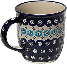 Polish Pottery Mug 12 Oz. From Zaklady Ceramiczne Boleslawiec #1105-432a Classic Pattern, Capacity: 12 Oz.
