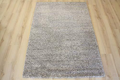 Ragolle Mehari Teppich 23500 Uni 6258 grau beige Natur meliert (133 x 195 cm)