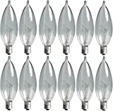 GE Crystal Clear Bent Tip Decorative Light Bulbs (40 Watt), 370 Lumen, Candelabra Light Bu...